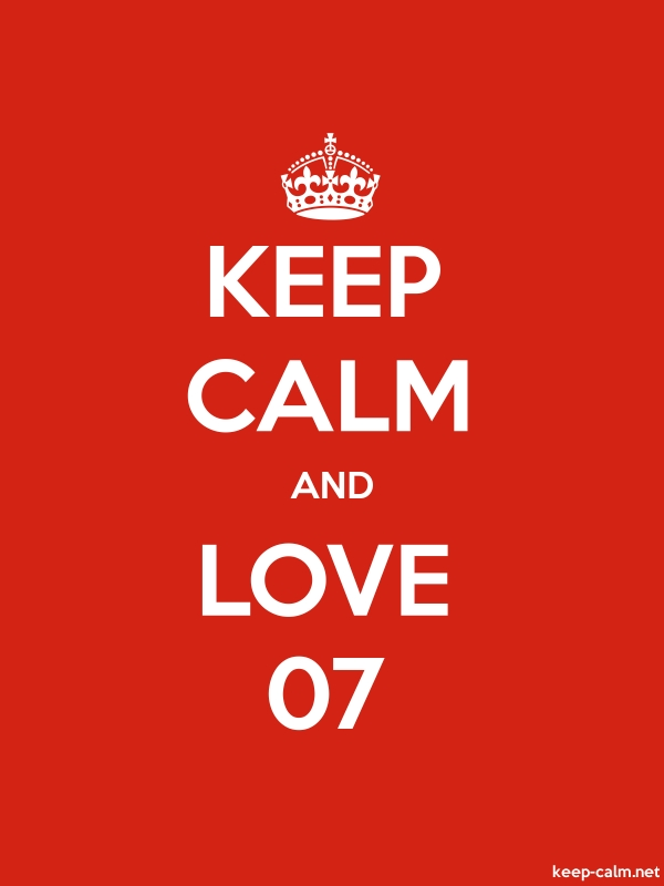 KEEP CALM AND LOVE 07 - white/red - Default (600x800)