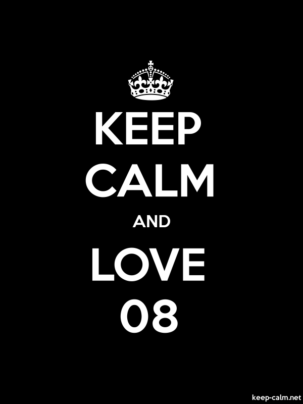 KEEP CALM AND LOVE 08 - white/black - Default (600x800)