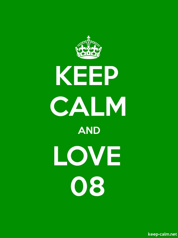 KEEP CALM AND LOVE 08 - white/green - Default (600x800)