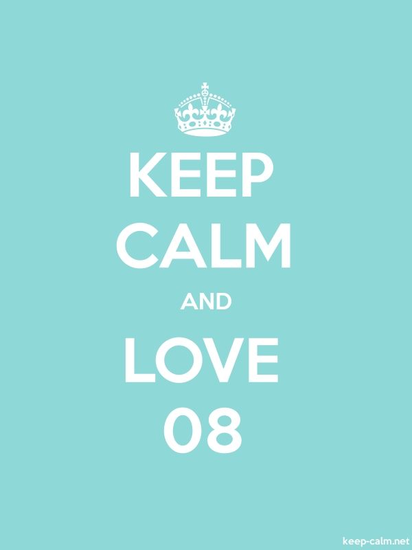 KEEP CALM AND LOVE 08 - white/lightblue - Default (600x800)