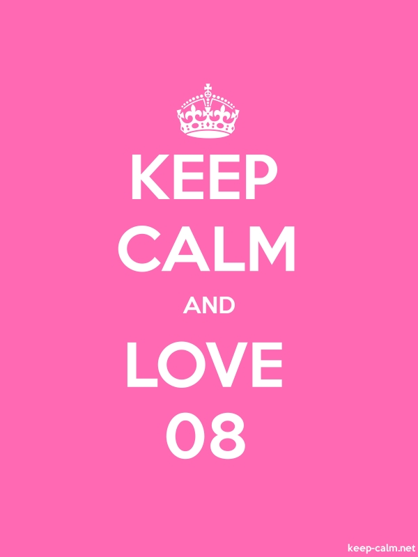 KEEP CALM AND LOVE 08 - white/pink - Default (600x800)