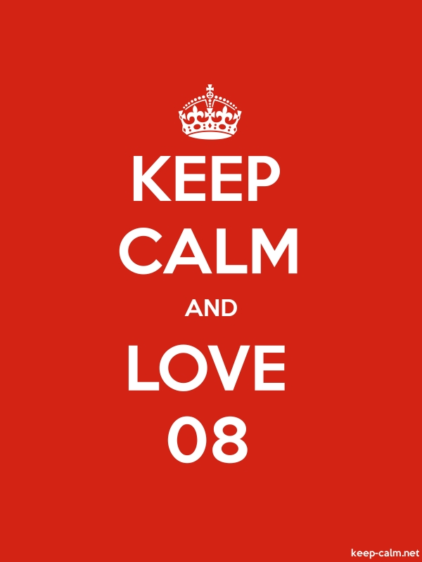 KEEP CALM AND LOVE 08 - white/red - Default (600x800)