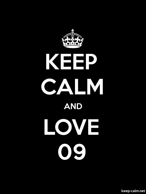 KEEP CALM AND LOVE 09 - white/black - Default (600x800)