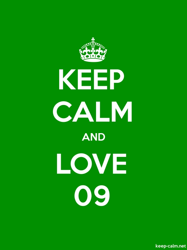 KEEP CALM AND LOVE 09 - white/green - Default (600x800)