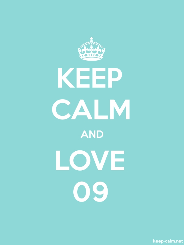 KEEP CALM AND LOVE 09 - white/lightblue - Default (600x800)