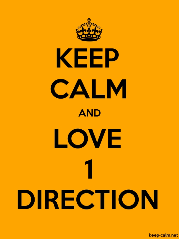 KEEP CALM AND LOVE 1 DIRECTION - black/orange - Default (600x800)