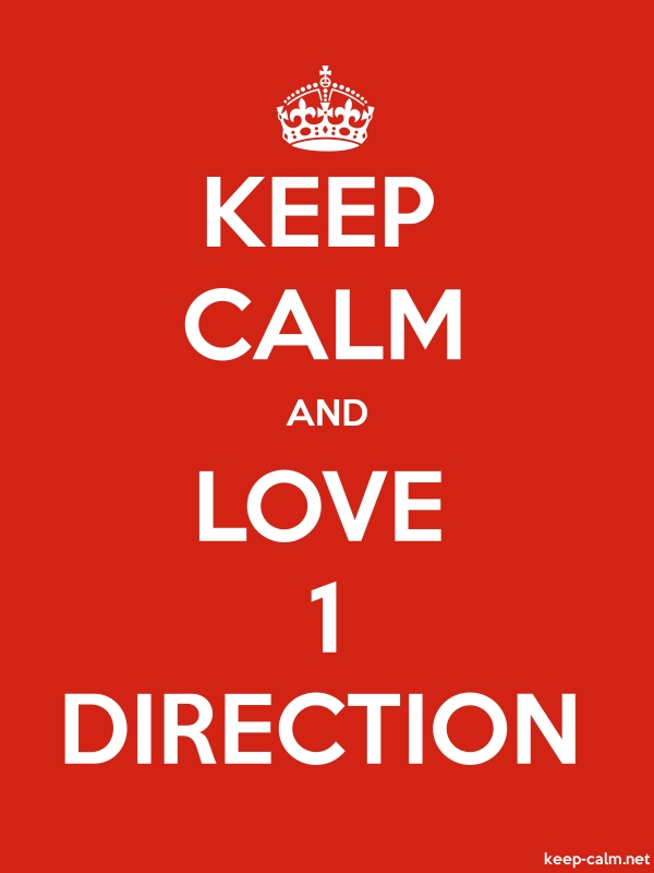 KEEP CALM AND LOVE 1 DIRECTION - white/red - Default (600x800)