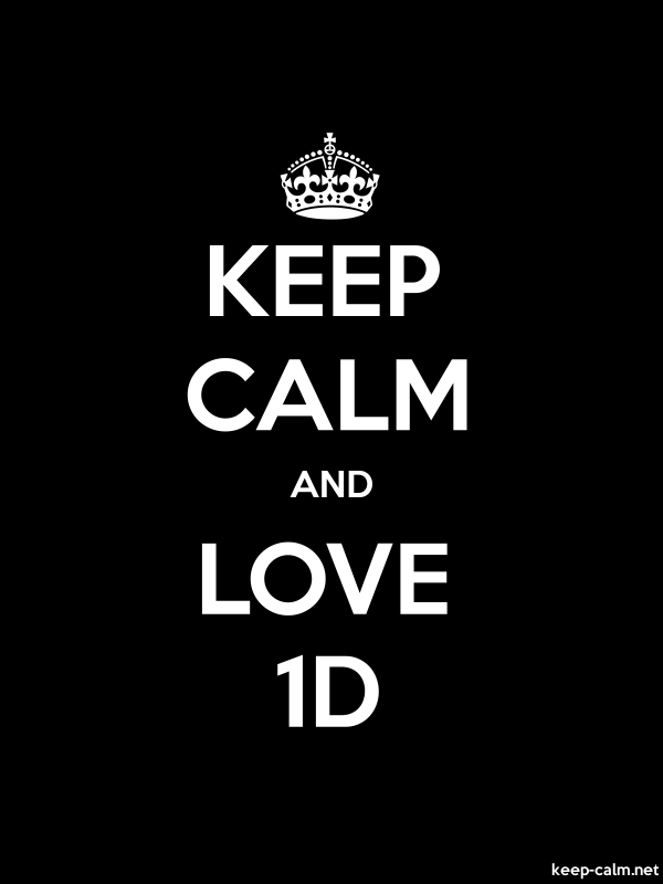 KEEP CALM AND LOVE 1D - white/black - Default (600x800)