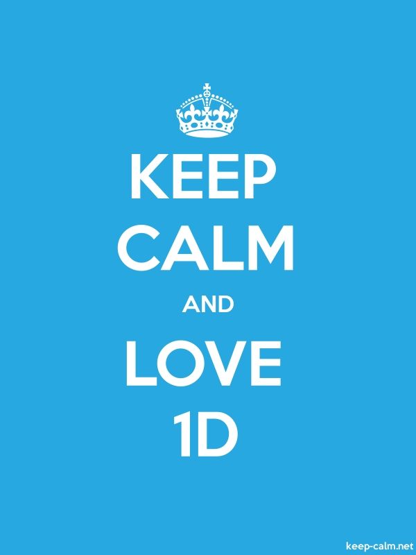 KEEP CALM AND LOVE 1D - white/blue - Default (600x800)