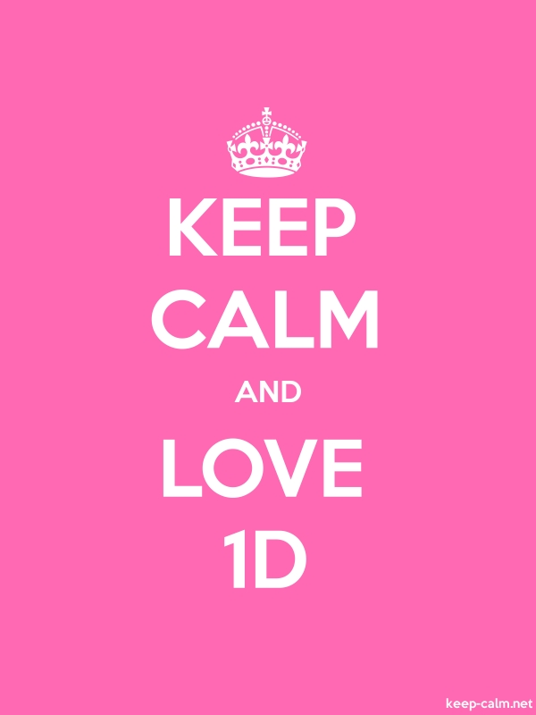KEEP CALM AND LOVE 1D - white/pink - Default (600x800)