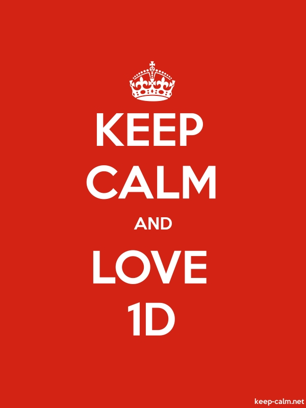 KEEP CALM AND LOVE 1D - white/red - Default (600x800)