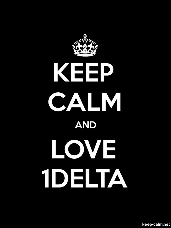 KEEP CALM AND LOVE 1DELTA - white/black - Default (600x800)