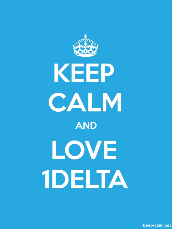 KEEP CALM AND LOVE 1DELTA - white/blue - Default (600x800)