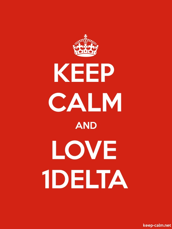 KEEP CALM AND LOVE 1DELTA - white/red - Default (600x800)