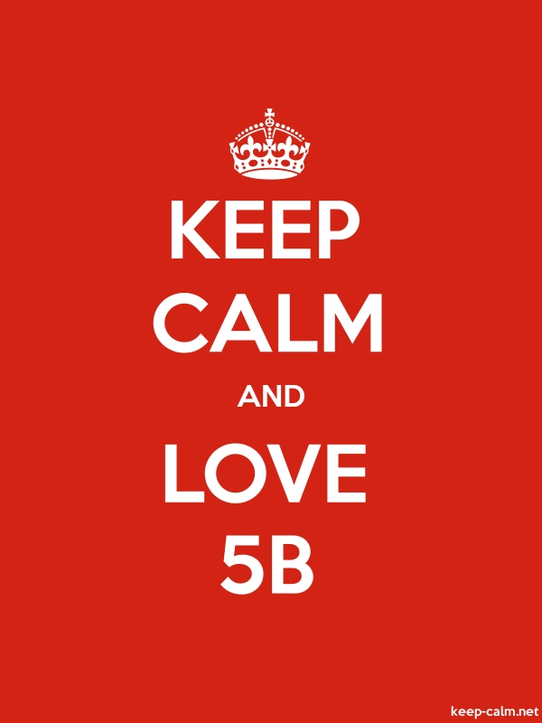 KEEP CALM AND LOVE 5B - white/red - Default (600x800)