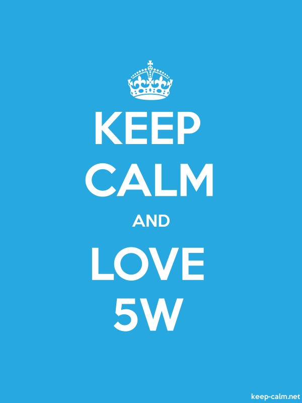 KEEP CALM AND LOVE 5W - white/blue - Default (600x800)