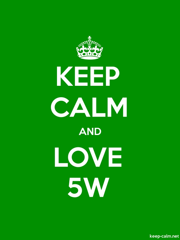 KEEP CALM AND LOVE 5W - white/green - Default (600x800)