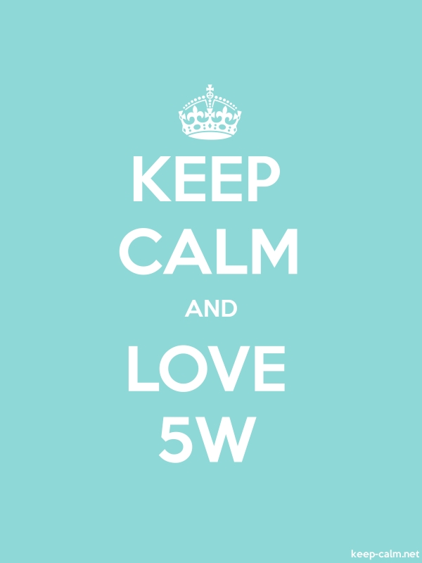 KEEP CALM AND LOVE 5W - white/lightblue - Default (600x800)