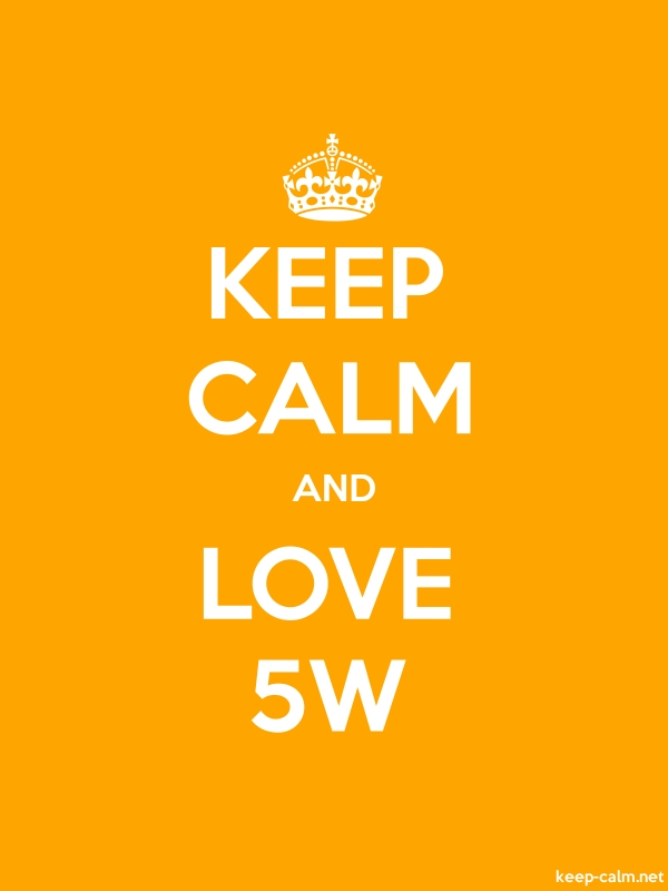KEEP CALM AND LOVE 5W - white/orange - Default (600x800)