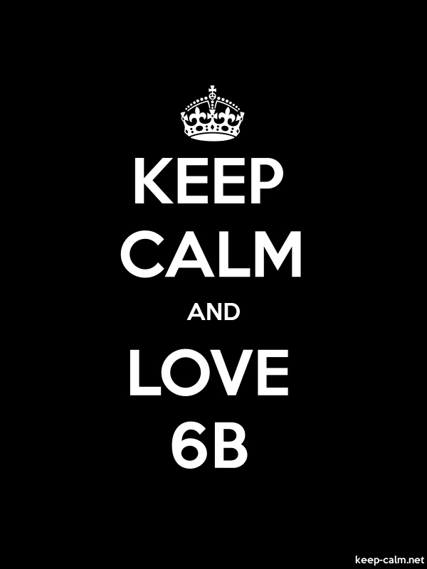 KEEP CALM AND LOVE 6B - white/black - Default (600x800)
