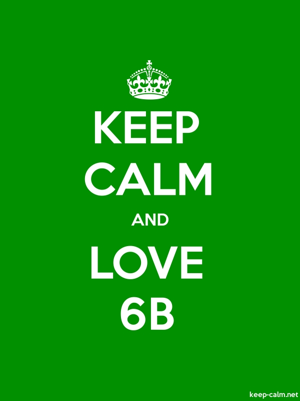 KEEP CALM AND LOVE 6B - white/green - Default (600x800)