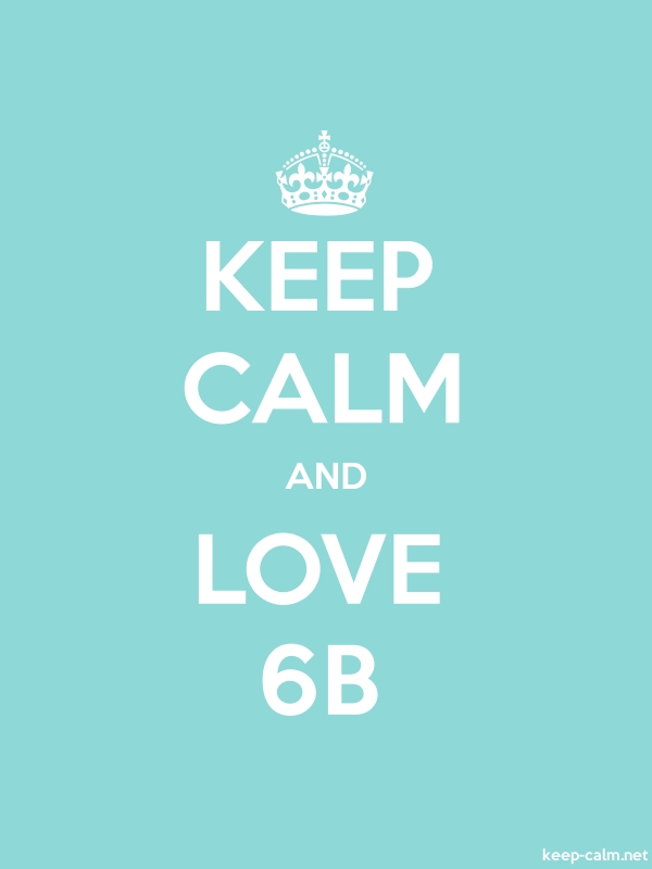 KEEP CALM AND LOVE 6B - white/lightblue - Default (600x800)