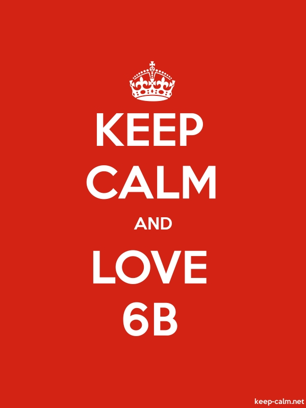 KEEP CALM AND LOVE 6B - white/red - Default (600x800)