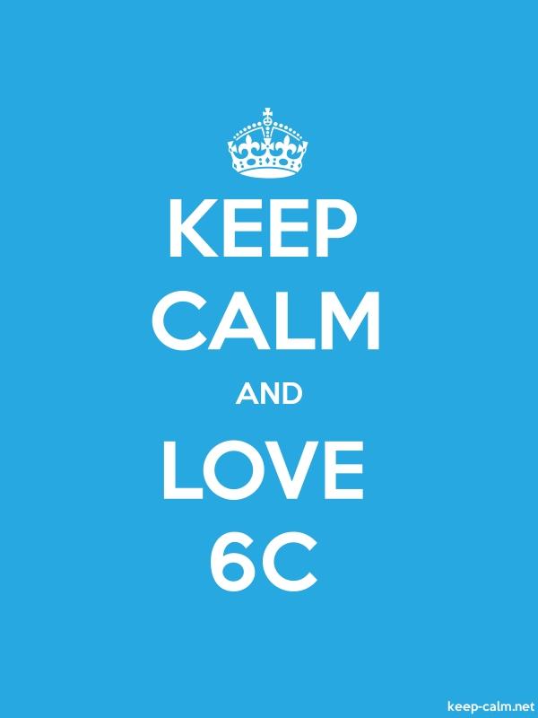 KEEP CALM AND LOVE 6C - white/blue - Default (600x800)