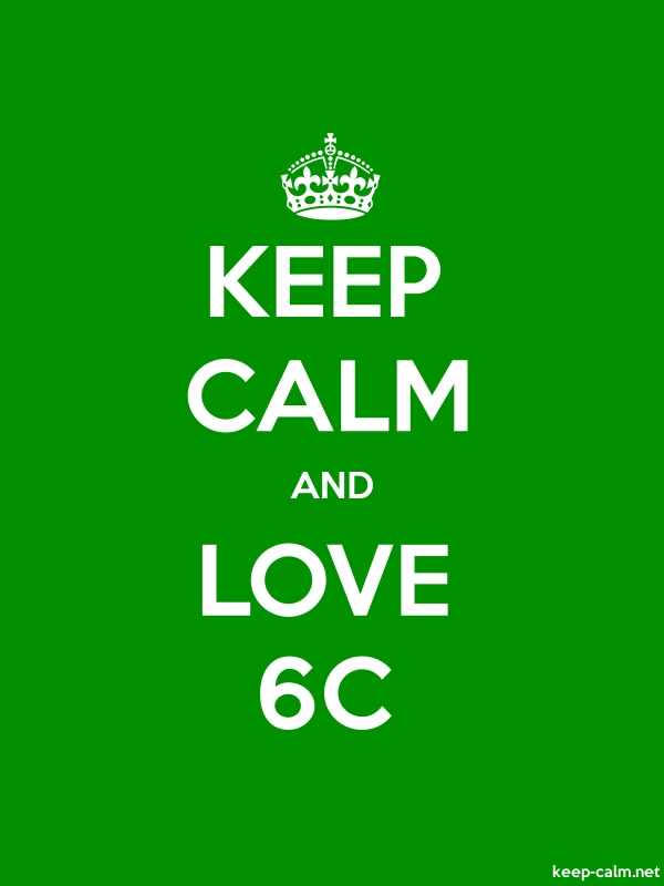 KEEP CALM AND LOVE 6C - white/green - Default (600x800)
