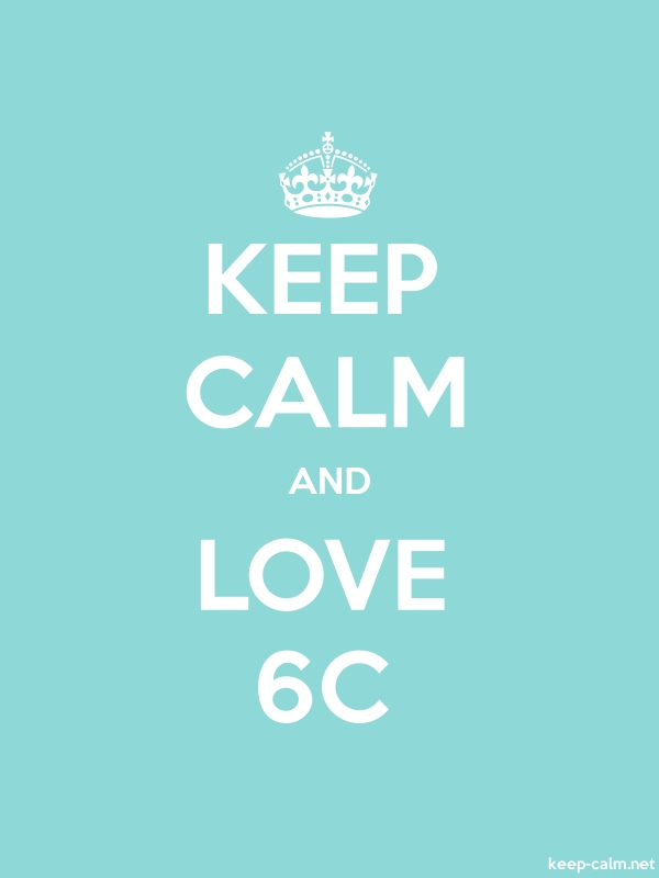 KEEP CALM AND LOVE 6C - white/lightblue - Default (600x800)