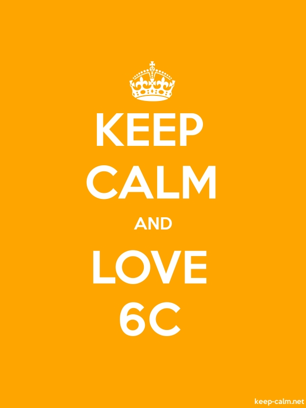 KEEP CALM AND LOVE 6C - white/orange - Default (600x800)