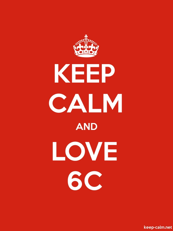 KEEP CALM AND LOVE 6C - white/red - Default (600x800)