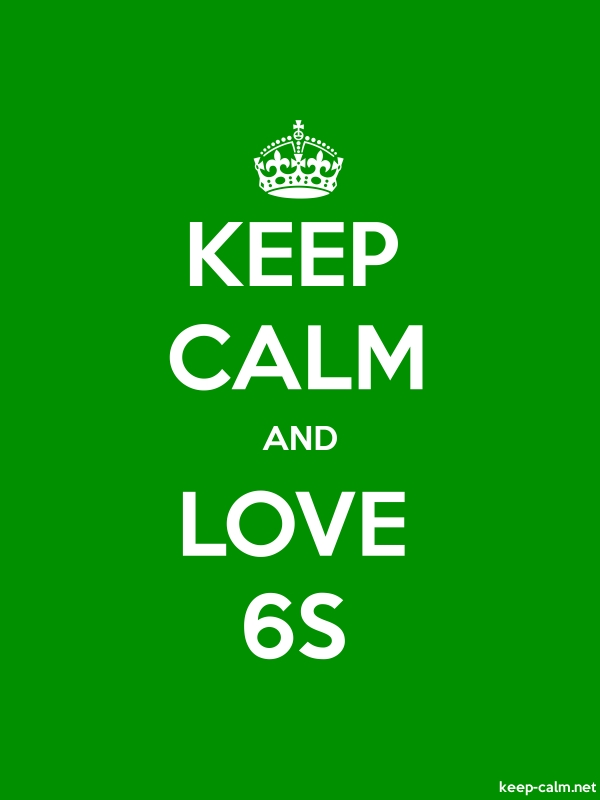 KEEP CALM AND LOVE 6S - white/green - Default (600x800)