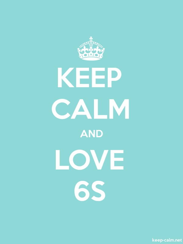 KEEP CALM AND LOVE 6S - white/lightblue - Default (600x800)