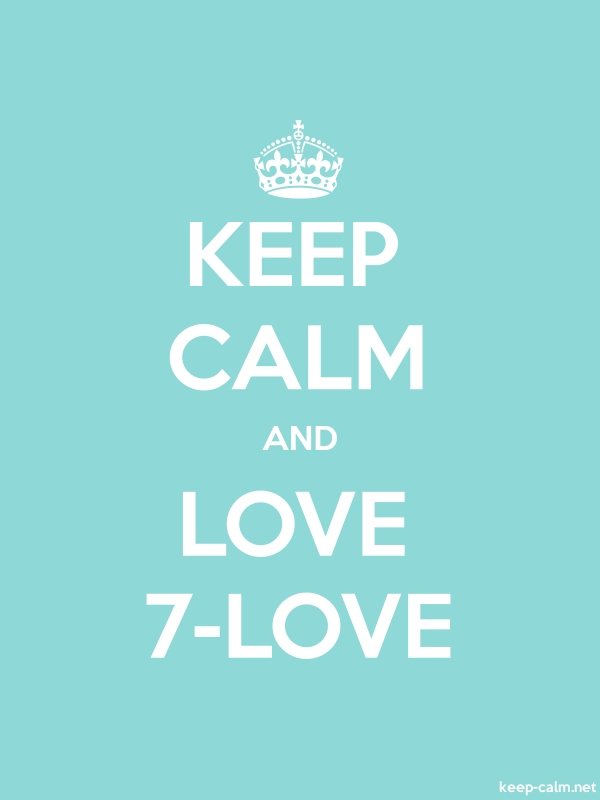 KEEP CALM AND LOVE 7-LOVE - white/lightblue - Default (600x800)