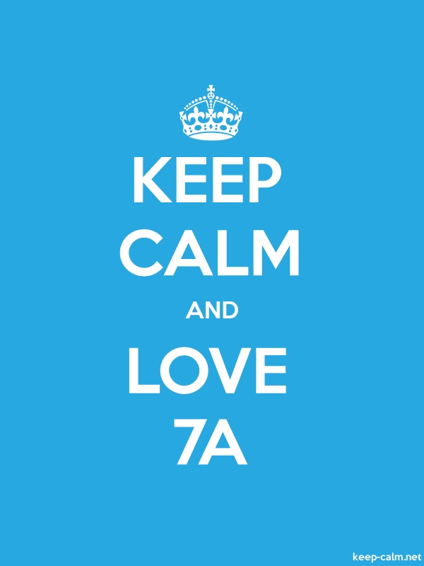 KEEP CALM AND LOVE 7A - white/blue - Default (600x800)