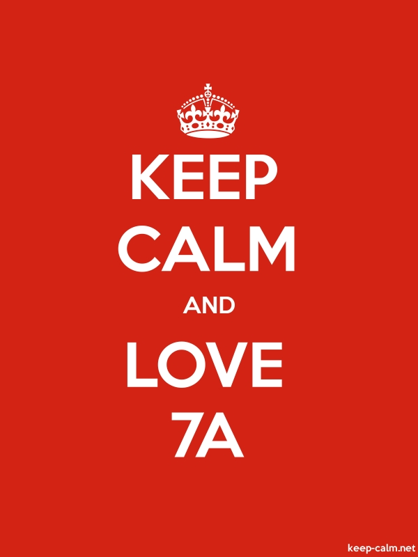 KEEP CALM AND LOVE 7A - white/red - Default (600x800)
