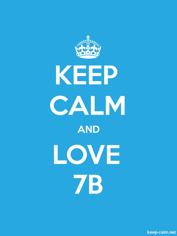 KEEP CALM AND LOVE 7B - white/blue - Default (600x800)
