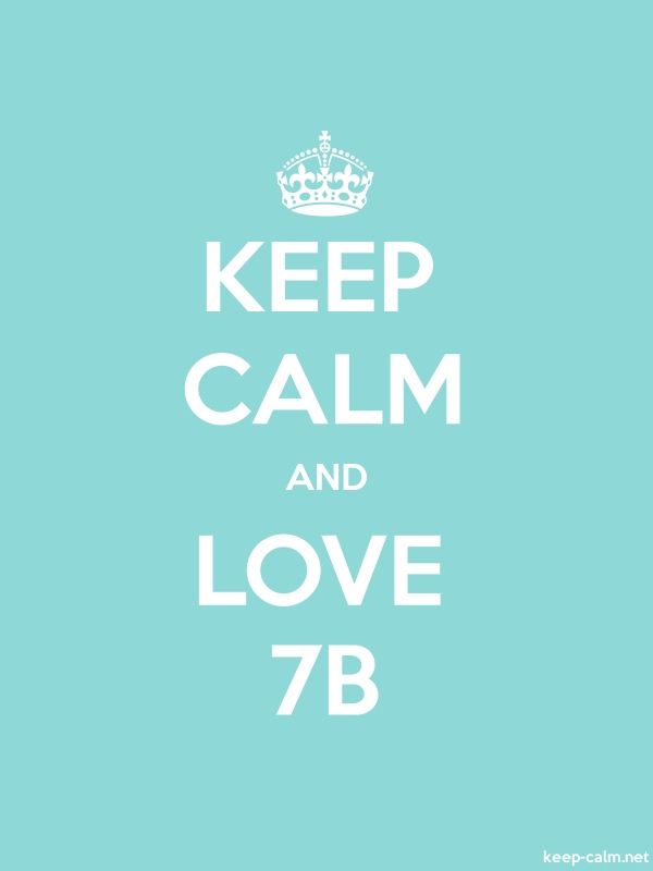 KEEP CALM AND LOVE 7B - white/lightblue - Default (600x800)