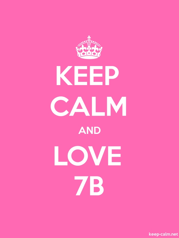 KEEP CALM AND LOVE 7B - white/pink - Default (600x800)
