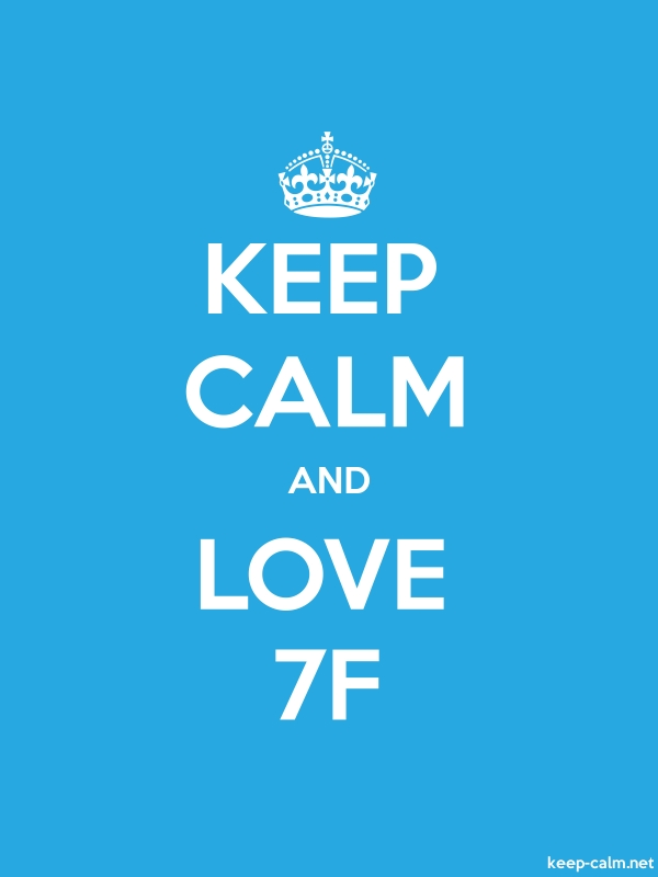 KEEP CALM AND LOVE 7F - white/blue - Default (600x800)