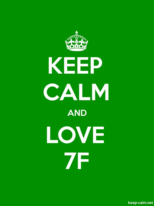 KEEP CALM AND LOVE 7F - white/green - Default (600x800)