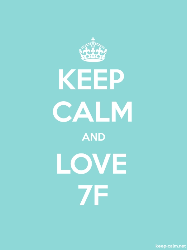 KEEP CALM AND LOVE 7F - white/lightblue - Default (600x800)