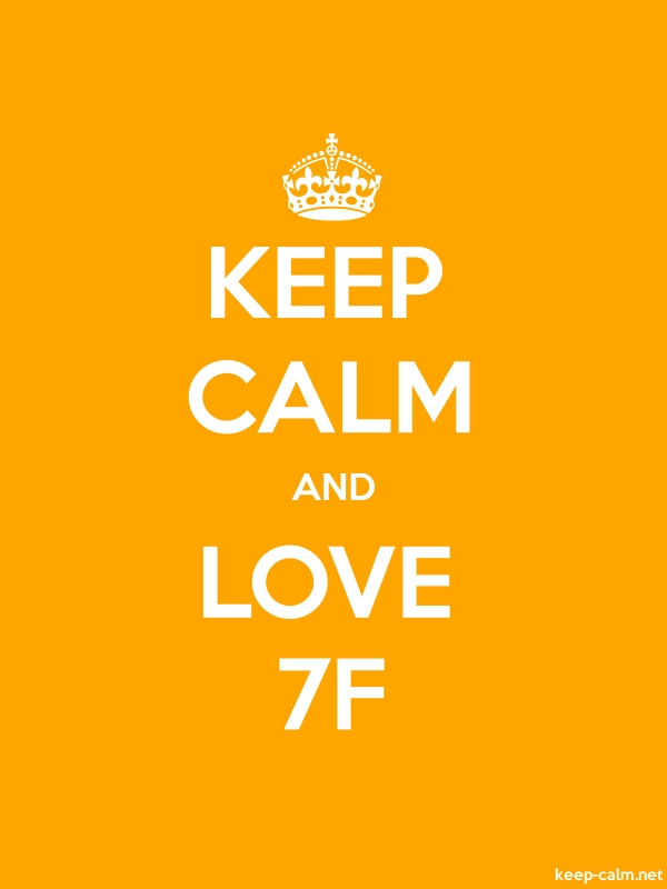 KEEP CALM AND LOVE 7F - white/orange - Default (600x800)