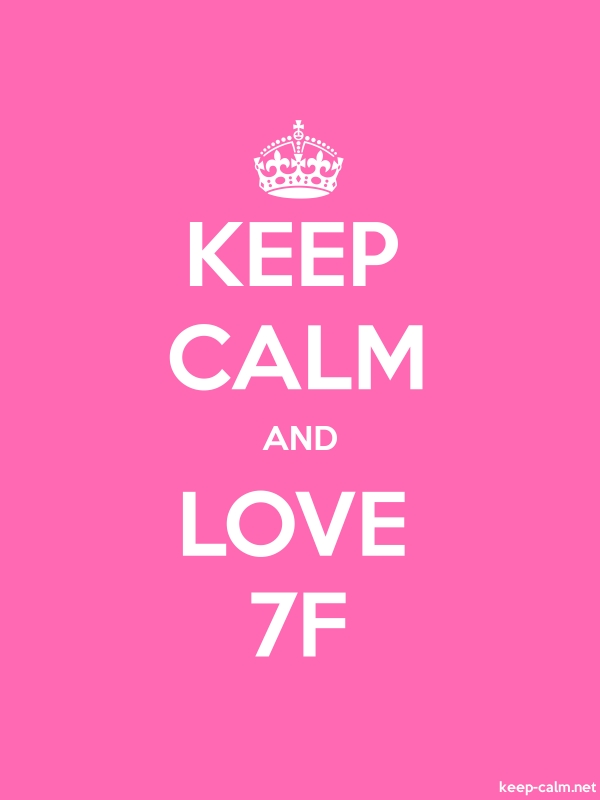 KEEP CALM AND LOVE 7F - white/pink - Default (600x800)