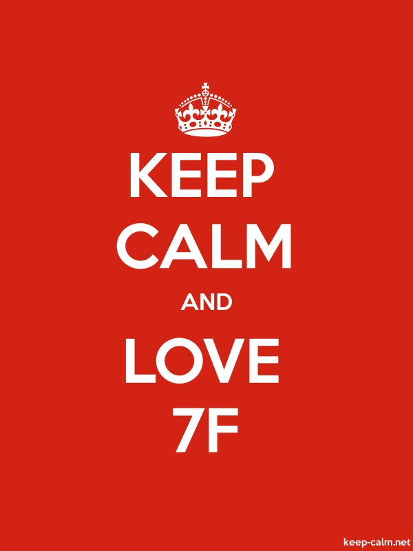 KEEP CALM AND LOVE 7F - white/red - Default (600x800)