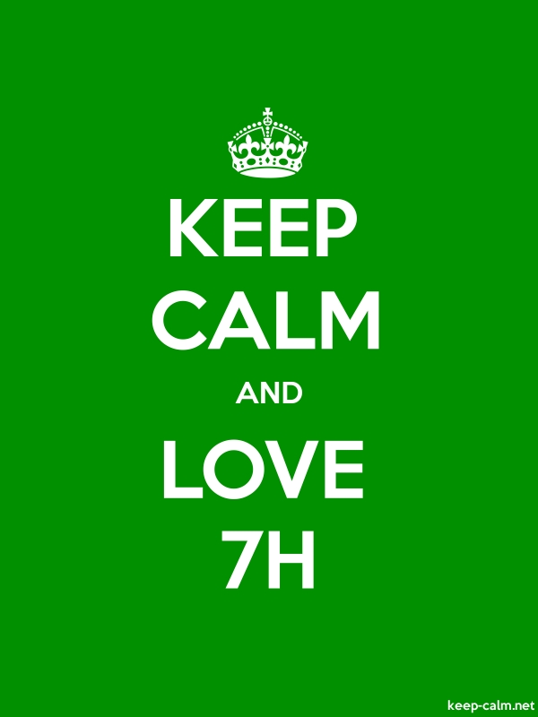 KEEP CALM AND LOVE 7H - white/green - Default (600x800)