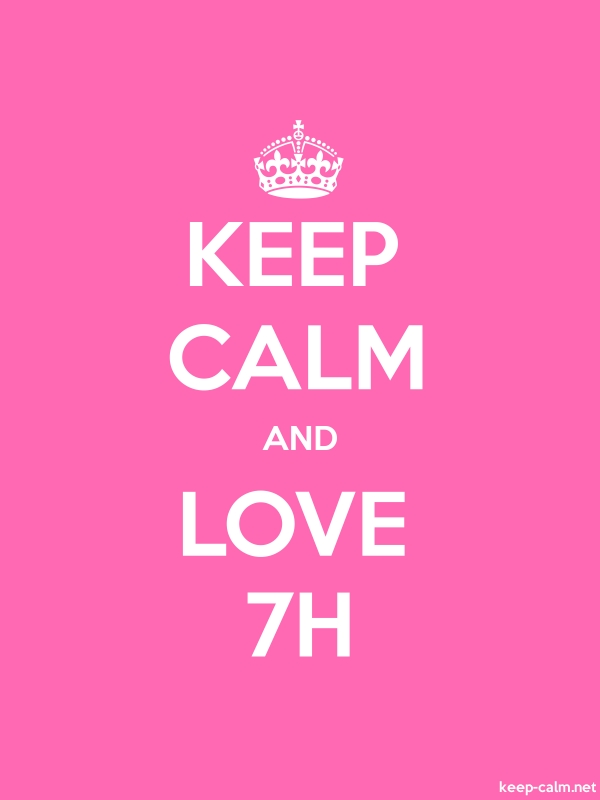 KEEP CALM AND LOVE 7H - white/pink - Default (600x800)