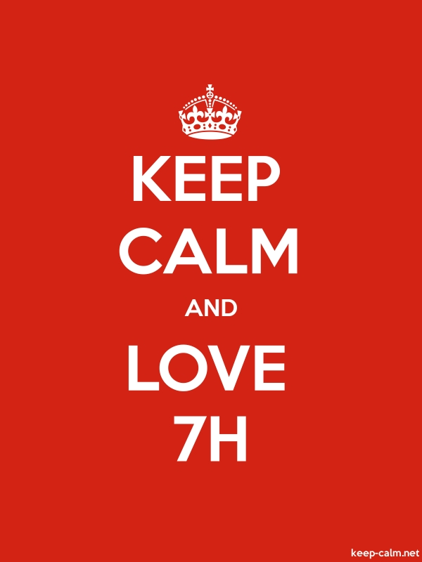 KEEP CALM AND LOVE 7H - white/red - Default (600x800)