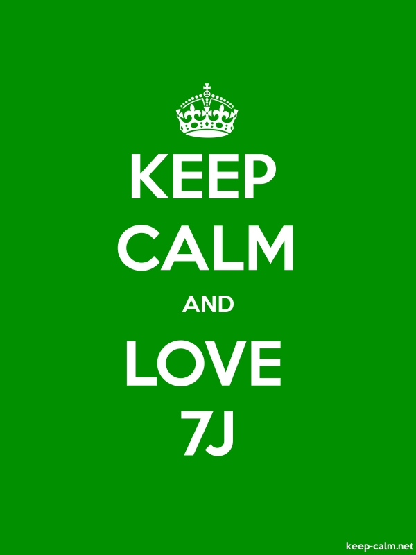 KEEP CALM AND LOVE 7J - white/green - Default (600x800)